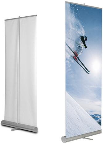 Nowoczesna architektura Rollup Super Light i Rollup Strong - stojak reklamowy NF99